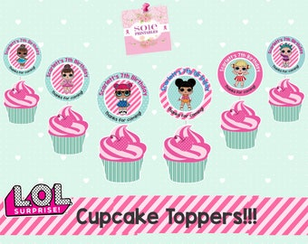 L.O.L Surprise:  – Cupcake Toppers- BIRTHDAY PARTY!