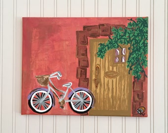 Bicycle By The Door Acrylic