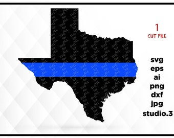 texas thin blue line police texas state svg texas silhouette svg silhouette files