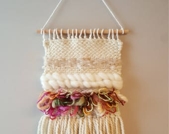 Beige/Multi Woven Wall Hanging