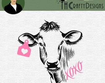 Cow Silhouette Etsy