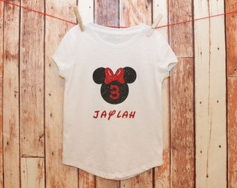Minnie Mouse Birthday Shirt, Disney shirt, Birthday shirt, Minnie Mouse Shirt