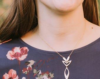 Love Petal Necklace   formal or casual   Maverick Jewelry