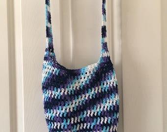 Crochet Women's or little  Girl's Hobo Style Market Bag
