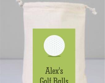 Personalized Golf Balls, Golf Gifts For Men, Golf Lover Gift, Golf Gifts, Personalized Golf Bag, Cotton Bag Drawstring, Golf, Golf Ornaments