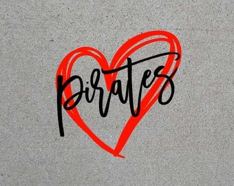 Pirates Heart SVG