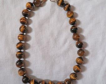 Tiger's Eye Bead Necklace ~ Vintage