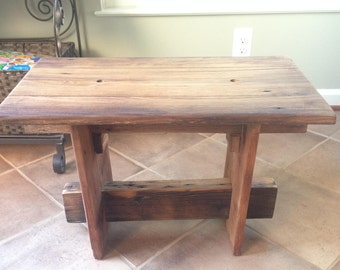 Reclaimed American Chestnut Child's Table