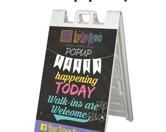 A Frame Street Sign for Lularoe Consultant - LLR Sidewalk Sign - Quick Turnaround - Popup Party Sign