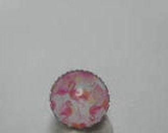 Ring cabochon picture flamingos pink/gift/birthday/party/thanks