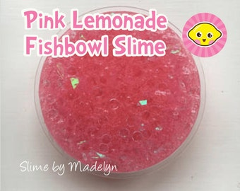 Pink Lemonade Fishbowl Slime ~ Glitter fishbowl slime