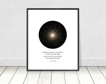 I Have Loved the Stars Too Fondly, Sarah Williams Quote, Poetry Wall Art, Printable Art, Quote Print,Poetry Print,Stars Print, Celestial