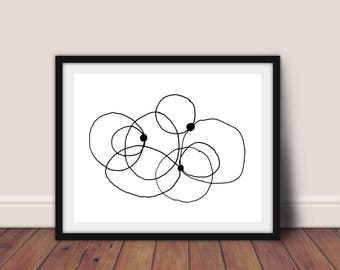 Black and White Abstract Art, Modern Minimalist, Scandinavian Print,Line Drawing,Abstract Print,Minimalist Wall Art,Printable Art,Modern Art