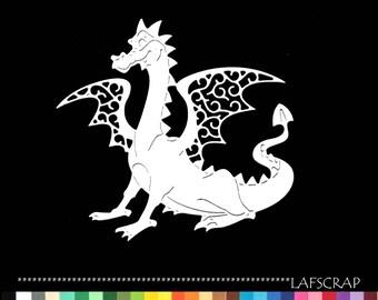 1 cut scrapbooking scrap dragon animal embellishment die cut scrap album deco