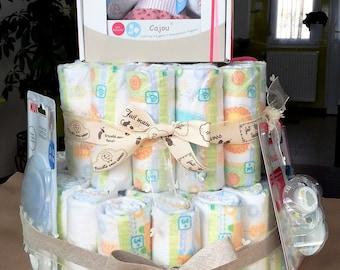For girl theme girl diaper cake