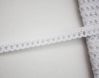 9 mm, 1 meter Ribbon lace lingerie white lace trim