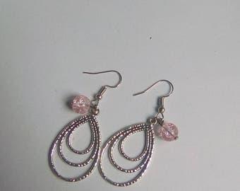 Triple dangle EARRINGS antique silver Earrings drop