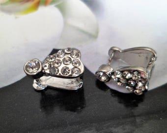 1 bail brass Support pendants Crystal rhinestones to embellish your Crystal drop heart pendants