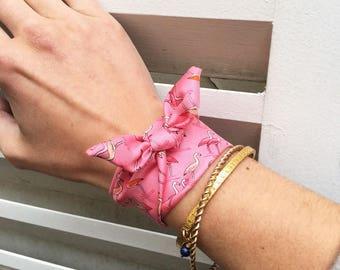 Bracelet foulard Lea Flamand