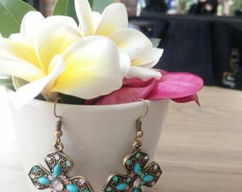 Vintage Style Earrings, Bohemian Style Earrings, Dangle Earrings, Drop Earrings, Jewelry Earrings, Gift Ideas, Gift for Her, Gem Earrings