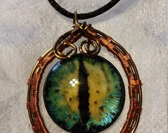 Unique Snake Eye Necklace