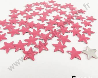 Fusible Star - Pink - 5mm - x 100pcs