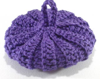 Cotton Tawashi Purple 9 cm