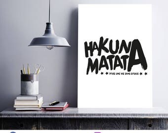 Poster/print quote - Hakuna matata