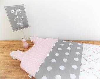 Sleeping bag 0-6 months PINK BIRDY