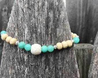 Beachy Lava Stone Bracelet
