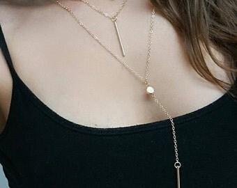 Layered Gold Necklace Boho Fewelry