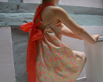 Dress liberty bare back or criss-cross back Liberty wiltshire lemon curd baby