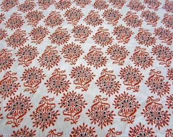 Coupon fabric crepe-pomegranate 50 x 140cm ref: 316