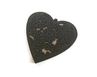 Heart wooden multi color