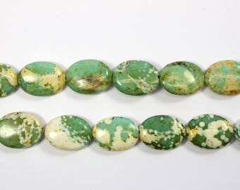 Gemstone, Green Gemstone, Oval Shaped Beads, Light Green, Marbled Beads, DIY, BS278