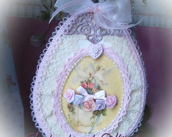 Shabby chic Easter egg door sign
