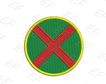 Martian manhunter embroidery design -  instant download digital file