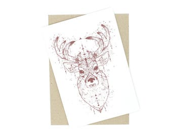 Christmas Card - Deer
