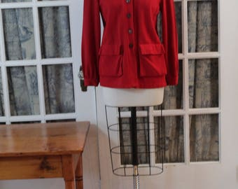 "1970's Red ""Jog-A-Long"" Jacket"
