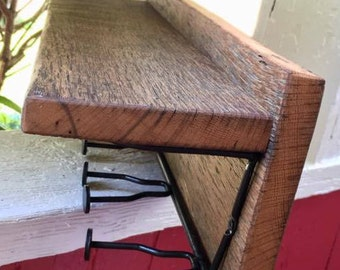 Antique Reclaimed Wood Coat Rack