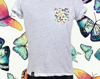 "POCKET TEE ""SPECKLED"" butterfly"