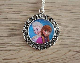 children necklace in silver snow Queen