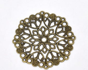 4 bronze roses prints