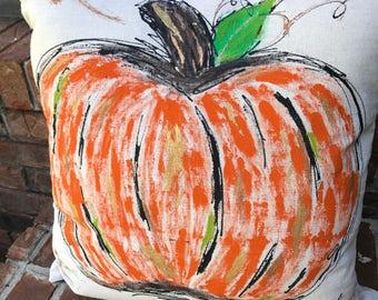 Orange Pumpkin Pumpkin Pillow Cover