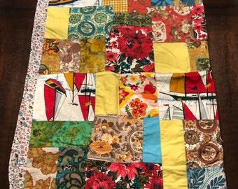"Vintage ""Grandma made"" patchwork quilt"