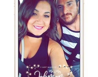 winter wedding snapchat filter, christmas snapchat filter, winter, winter wedding geofilter, christmas lights, lights geofilter, glow
