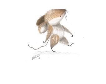 Original Wood Mouse Illustration