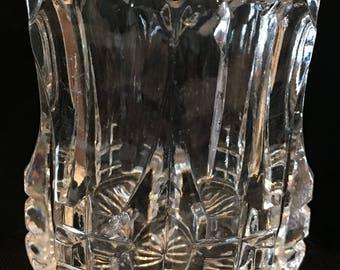 1903 Duncan Miller No. 55 Quartered Block Pattern Toothpick Holder EAPG Pressed Glass