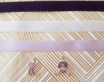 Drifloon / Drifblim Ghost Type Pokemon Choker Necklace gold