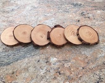Handmade Wood Coasters Pack of 6